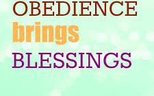 obedience brings blessings