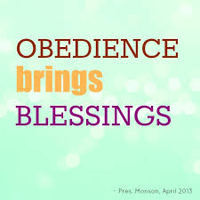obedience brings blessings